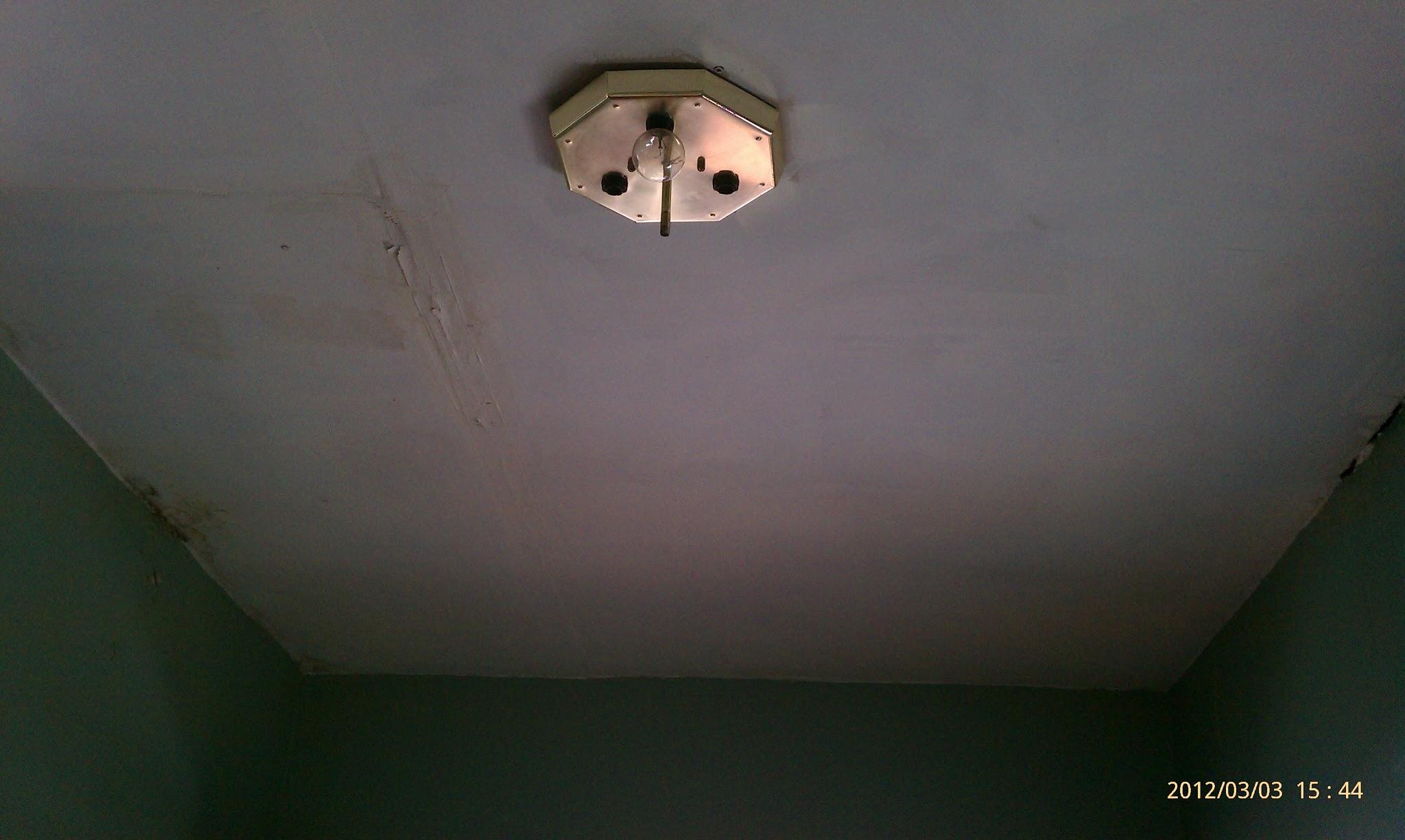 Replace lighting fixture on first floor