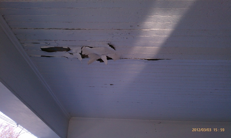 Repaint the porch ceiling